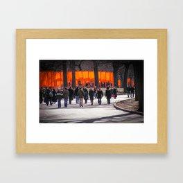 Christo Gates in Central Park Framed Art Print