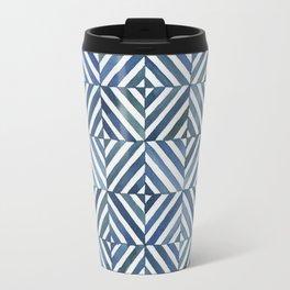 Square Stripes Travel Mug