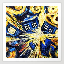 Tardis By Van Gogh - Doctor Who Art Print