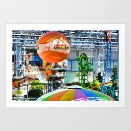 Nickelodeon Universe indoor amusement park Art Print