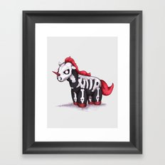 Evil Unicorn Framed Art Print