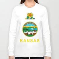 kansas Long Sleeve T-shirts featuring KANSAS by changsaw
