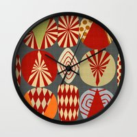 blankets Wall Clocks featuring christmas tree MINIMALIST by Chicca Besso