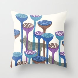 F and W Throw Pillow