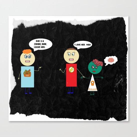 Zombie Girlfriend Canvas Print