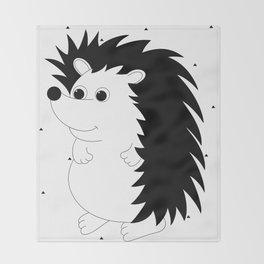 Mr Matuku (black and white) Throw Blanket
