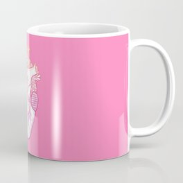 Designer Heart Pink Coffee Mug