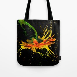 Liquid Daisy Tote Bag