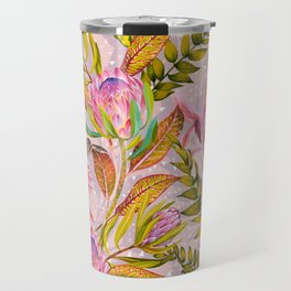 Botanical love pattern Travel Mug