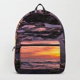 Pure Happiness Pirates Cove Malibu Sunset Backpack