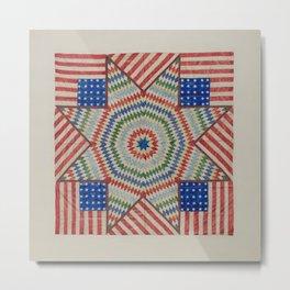 Americana Quilt Metal Print