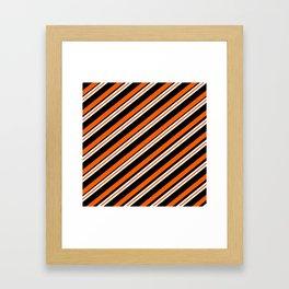 Team Colors ....orange,black, and white Framed Art Print