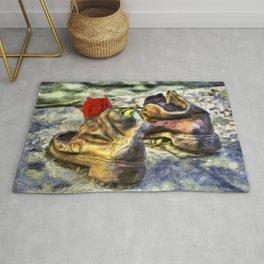 Shoes On The Danube Van Gogh Rug