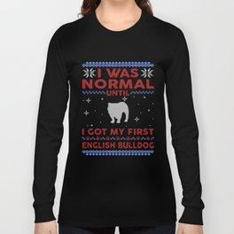 English Bulldog Ugly Christmas Sweaters Long Sleeve T-shirt