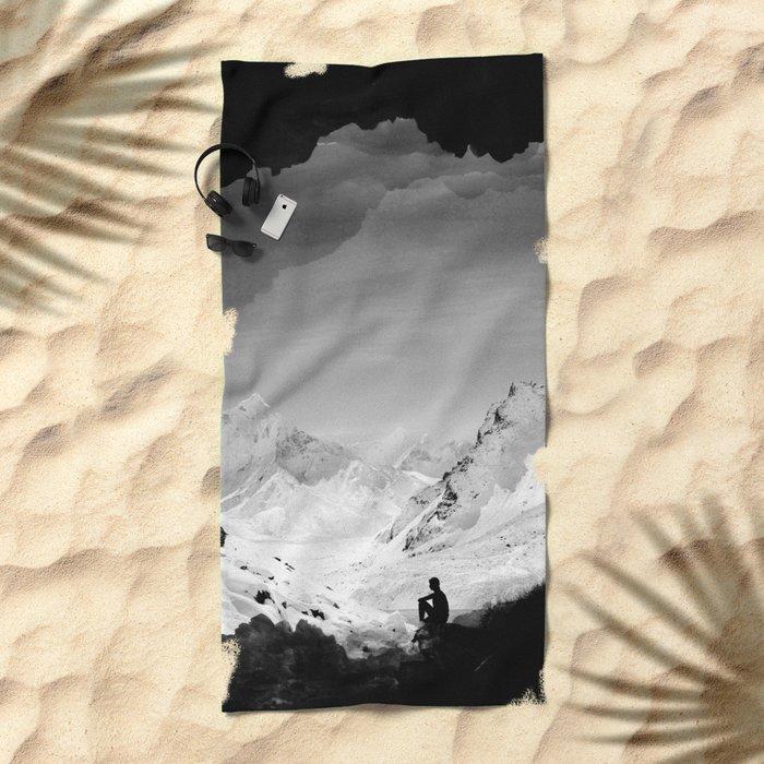 Snowy Isolation Beach Towel