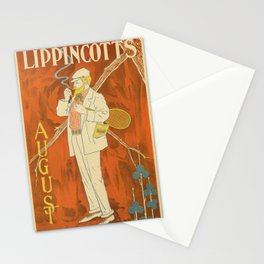 August 1895 Lippincott's magazine Stationery Cards