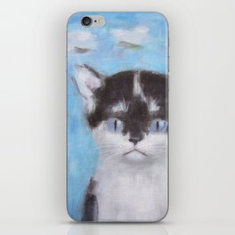 Kitten with Three Clouds iPhone Skin