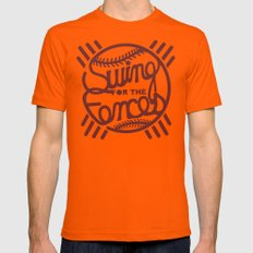 SW/NG! X-LARGE Orange Mens Fitted Tee