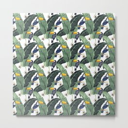 Toucans and leaves Metal Print