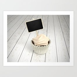 Happy Birth Day cupcake with signboard Art Print