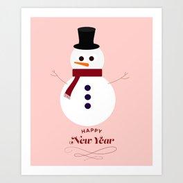 Snowman 2016 Art Print