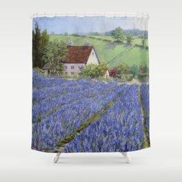 Lavender Hill — North Carolina Shower Curtain