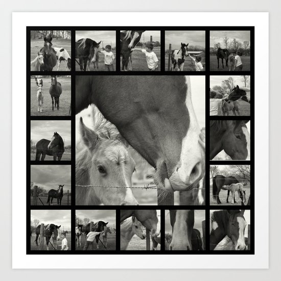 Boy Meets Horse Art Print