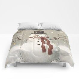 Christmas Snowman  Comforters