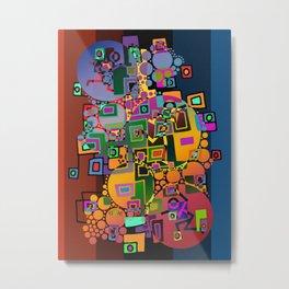 Cubism Modern Art - Dancing In The City 1 Metal Print