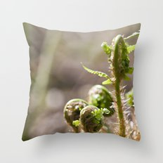 Young Ferns Throw Pillow