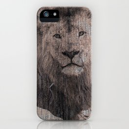 African Lion Abstract iPhone Case