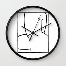 Proud Naked Woman Wall Clock