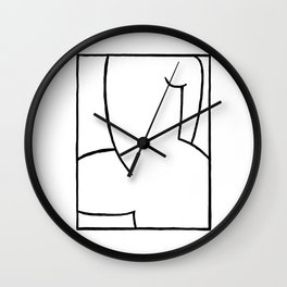Proud Naked Woman Wall Clock