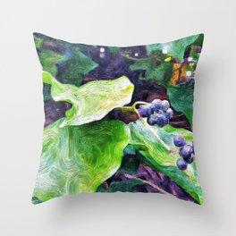 Ivy Berries Throw Pillow