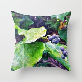 Ivy Berries Throw Pillow