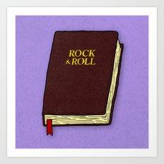 Rock & Roll Bible Art Print