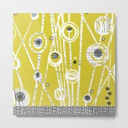 Mustard Meadow Metal Print