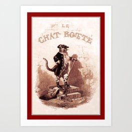 Puss in Boots (Le chat botté) Art Print