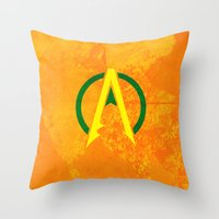 aquaman Throw Pillows featuring Aquaman by Some_Designs