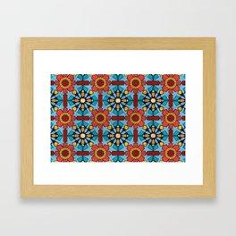 Morocco Mosaic Framed Art Print