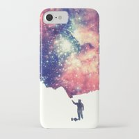 galaxy iPhone & iPod Cases featuring Painting the universe by badbugs_art