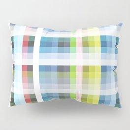 blue retro crossed design Nuckelavee Pillow Sham