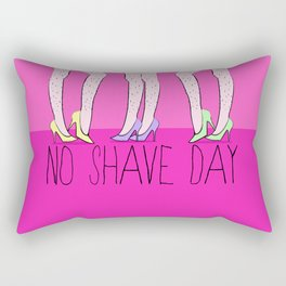 Hairy Legs No Shave Day Rectangular Pillow