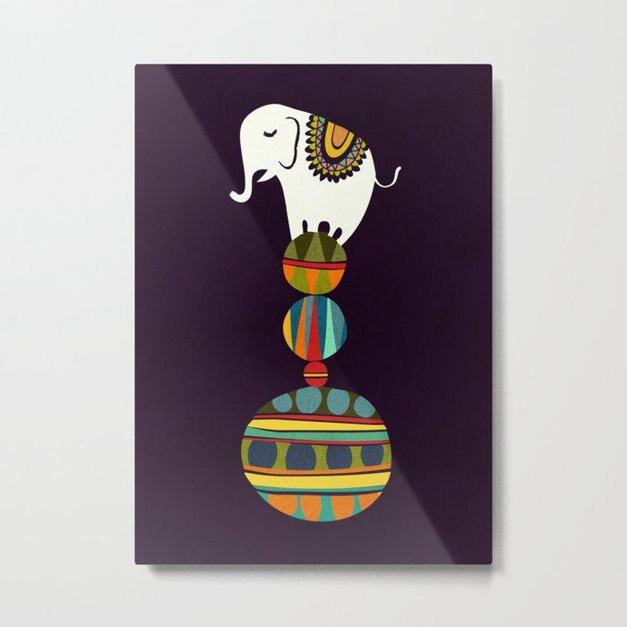 Elephant Circus Metal Print