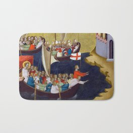 Bernardo Daddi Arrival of Saint Ursula at Cologne Bath Mat