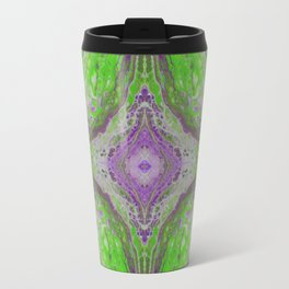 Psycho - Green Slime and Purple Fancy in a Reptile Universe by annmariescreations Travel Mug
