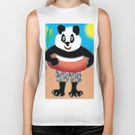 Panda Swimmer Biker Tank