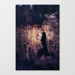 Lantern in the Dark Canvas Print