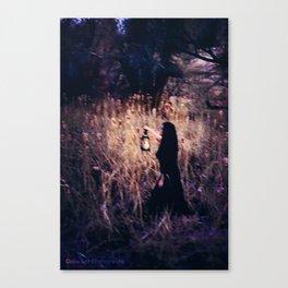 Lantern in the Dark Canvas Print