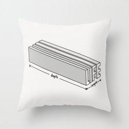 Life is short but deep Throw Pillow